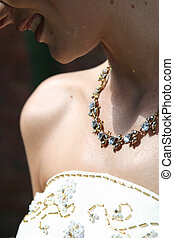 bridal necklace - Jewel encrusted necklace