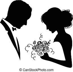 bridal, paar