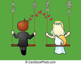 bridal pair - Bridal pair on swings