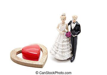 Bridal pair for decorate
