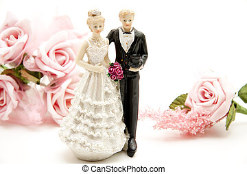 bridal pair with Flowers