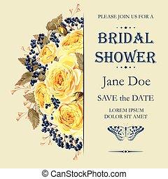 bridal prysznic, zaproszenie