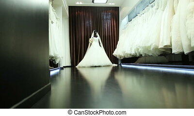 Bridal salon - Series of luxury wedding dresses and a dress...