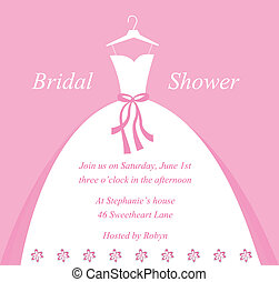 Beautiful bridal wedding shower invitation