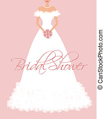 Bridal Shower Invitation - EPS10 vector illustration of a...
