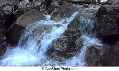 Bridal Veil Falls box canyon near Telluride Colorado