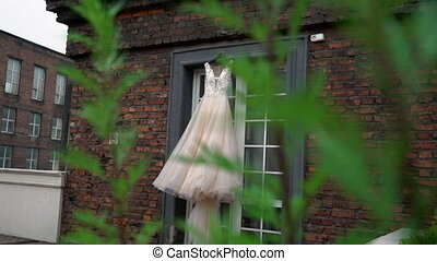 Bridal wedding dress. Fashion luxury gown