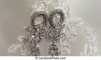 Bridal wedding earrings shot