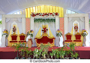 Wedding stage decoration stock photos and images 929 wedding stage bridal wedding stage decoration junglespirit Images