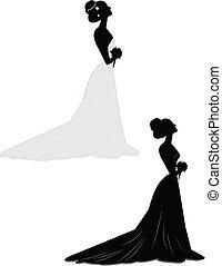 bride alone in 2 styles