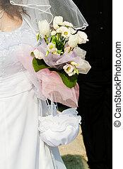 Bride and bouquet. Wedding Bouquet