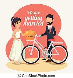 Bride and groom design