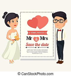Bride and groom design