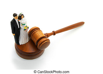 bride and groom gavel