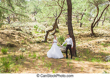 Bride and Groom in their wedding day