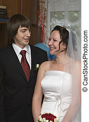 Bride and groom on wedding