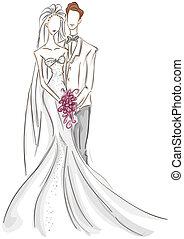Bride and Groom Sketch
