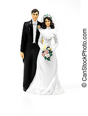 Bride and Groom - Photo of a Bride and Groom Cake Ornament