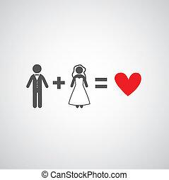 bride and groom symbol