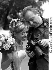 Bride and photographer - The beautiful bride and the ...