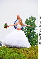 Bride & Groom Married Couple