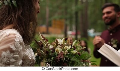 Bride groom register marriage nature