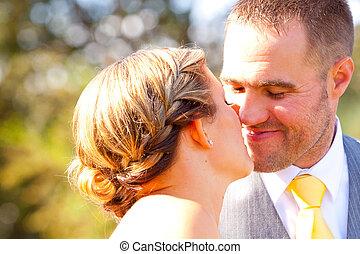 Bride Groom Wedding Day