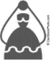 Bride Halftone Dotted Icon