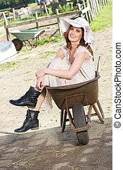 Bride in a Wheelbarrow