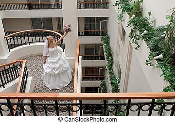 Bride in gallery