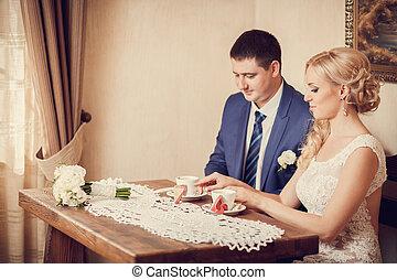 bride in hotel