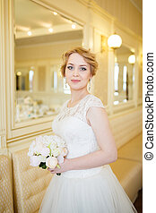 Bride in the bright room