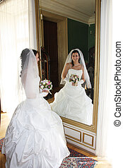 Bride in the room