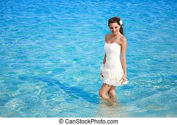 bride in the sea