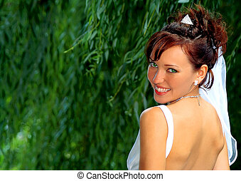 Bride in the wedding day