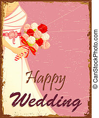 Bride in Wedding Background