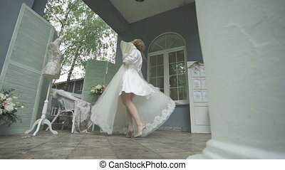 Bride is glad her gorgeous wedding dress