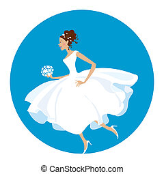 Nowadays bride - she is in a hurry as usual:)
