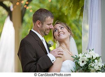 Bride Looking at the Groom