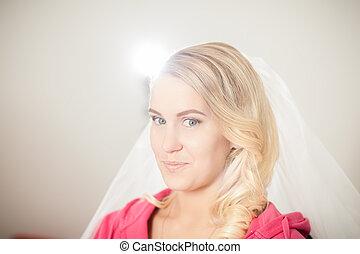Bride makeup in saloon