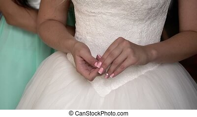 Bride nervous unrecoginzable - Bride nervous hands...