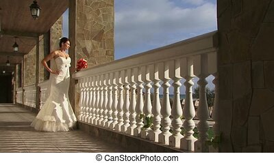 Bride On A Balcony