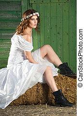 Bride on a Haystack
