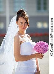 Bride on a wedding day