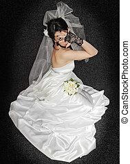 bride on dark