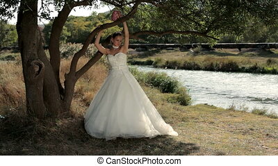 Bride on the river