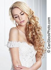 bride., portrait.
