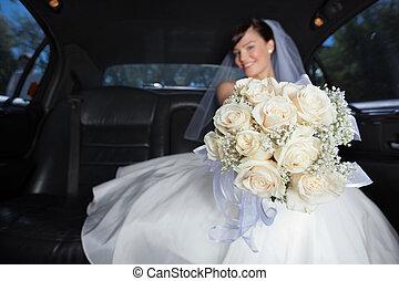 Bride Showing Flower Bouqet