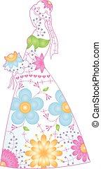 Bride silhouette gradient - Vector bride silhouette with...