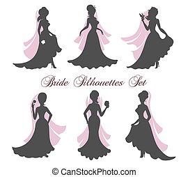 Bride Silhouettes Set